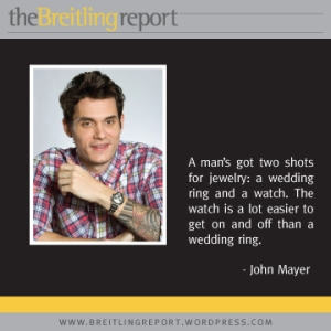 John Mayer on watches