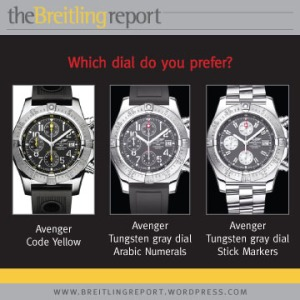 Breitling Avenger Dial Configurations