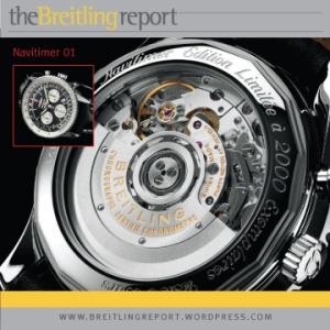 Breitling Navitimer 01 with exhibition caseback
