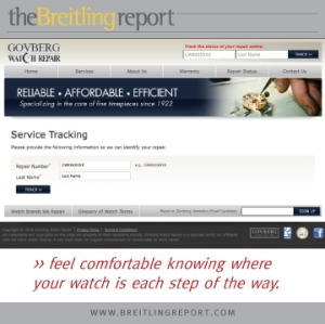 Govberg Watch Repair: Convenient Repair Tracking System