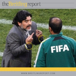 Diego Maradona - two watches at once