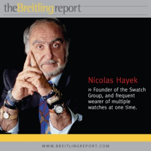 Nicolas Hayek - wearer of multiple watches at once.