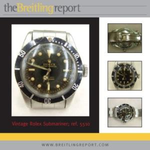 Vintage Rolex Submariner listed on eBay.